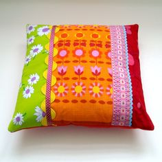 Vintage+Fabric++Patchwork+Cushion+/+Pillow+Cover+by+madebylisajane,+£24.00
