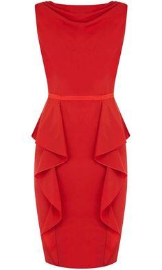 Coast Red Peplum Dress