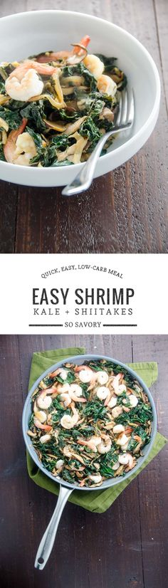 This shrimp skillet is a quick weeknight meal for the changing season that's packed with both veggies and flavor. It's low in carbs, too.