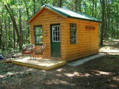 Cabin With Green ONDURA Roof