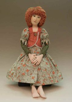 Averill 2010 - Deanna Hogan Blue Heron Crafts - Pattern available for this doll :) Blue Heron, Doll Face, Craft Patterns, Art Dolls, Doll Clothes, Faces, Artists, Disney Princess, Disney Characters