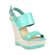 WARMTHH TEAL SUEDE women's sandal high wedge - Steve Madden