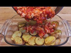 rețetă rapidă și ușoară, cartofi cu piept de pui, pentru întreaga familie # 248 - YouTube Potato Caserole, Chicken Potatoes, Quick Easy Meals, Cauliflower, Shrimp, Chicken Recipes, I Am Awesome, Meat, Dinner