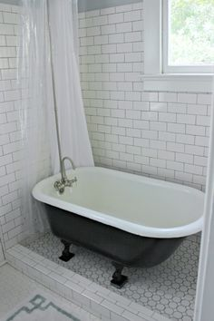 Charmant Historic Black And White Bathroom Renovation   702 Park Project · Clawfoot  Tub ...