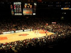 new york knicks at madison square garden. way to my man's heart.