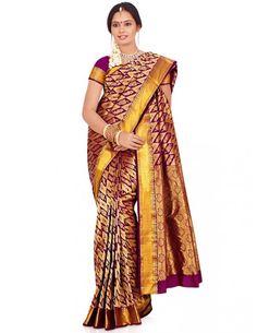 Spectacular Pure Silk Saree Item code : SBC318  http://www.bharatplaza.com/womens-wear/sarees/silk-sarees/spectacular-pure-silk-saree-sbc318.html