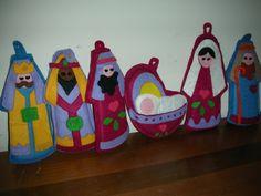 Felt, finger puppet nativity