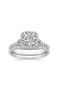18K White Gold Harmony Diamond Ring Matched Set
