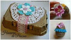 Huevera de Pascua decorada www.manualidadesytendencias.com #huevosdePascua #eastereggs