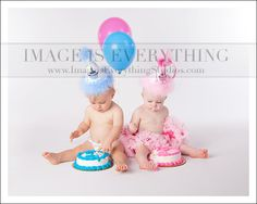 Twin First Birthday Cake Smash NJ Photographer