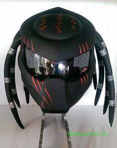 Predator Inspired Motorcycle Helmet