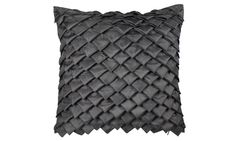 Textured geometrics such as this Satin Fold cushion are a great way to make a room more interesting #fishpools