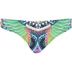 River Island Womens Black tropical print bikini bottoms from River Island Clothing. River Island Bikini, River Island Outfit, Bikini Swimwear, Bikinis, Swimsuits, Blue Abstract, Abstract Print, River Island Womens, Spring Summer Trends