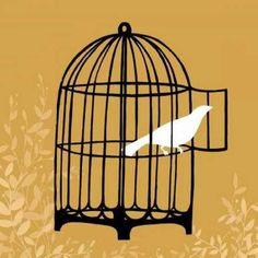 June Vess Solid-Faced Canvas Print Wall Art Print entitled Birdcage Silhouette II, None Framed Artwork, Wall Art Prints, Fine Art Prints, Poster Prints, Wrapped Canvas, Find Art, Giclee Print, Silhouette, Inspiration