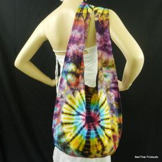 Tie Dye Bag Purse Hobo Hippie Sling Crossbody by BenThaiProducts, $13.99