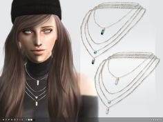 -4 colours  Found in TSR Category 'Sims 4 Female Necklaces'