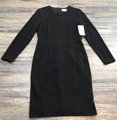 David Meister Dress Black Sheath Quarter Sleeve Womens Sz10*NWT*  | eBay