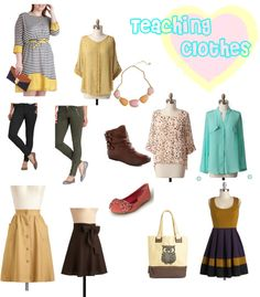 """""""Teaching Clothes"""" by sierrabennettdesign on Polyvore"""