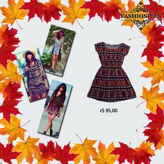 Uma das principais tendências deste outono inverno é a inspiração nos anos 60 e 70. O Boho Chic é uma mistura dos estilos hippie, étnico, folk, romântico e vintage.  Inspire-se no estilo Boho Chic e crie looks despojados combinando nosso vestido étnico com bolsa de franjas, colete e botas.