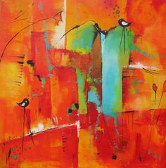 ingemalt (©2014 ingeborgzinn.com) abstraktes Acrylgemälde,datiert und signiert, Unikat