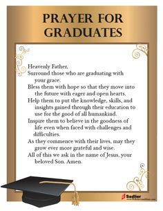 Download my Prayer for Graduates and use it in your parish or home. #Catholic #Catholics #Graduation #Graduates
