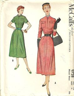 Vintage 50s sewing Pattern McCalls 9728 by studioGpatterns on Etsy, $14.50