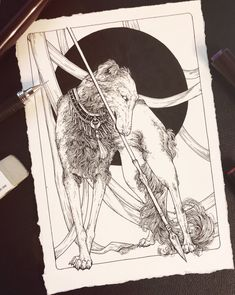 A piece for (inhabit) opening this Friday at in Denver, CO. Curated by and featuring some of my absolute… Black Cat Art, Black Rat, Borzoi Dog, Eclectic Witch, Dog Artwork, Image Fun, Celtic Art, Character Drawing, Illustration Art