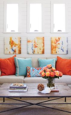 14 Best Turquoise and Orange Living Room images in 2016 ...