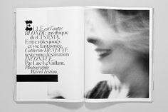 layout by Fabien Baron, Vogue Paris