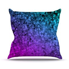 "Kess InHouse Ebi Emporium ""Romance Me at Midnight"" Teal Blue Outdoor Throw Pillow, 26 by 26-Inch Kess InHouse http://www.amazon.com/dp/B00JQIXWA2/ref=cm_sw_r_pi_dp_suaaub1CT1TYJ #boldcolors #colorful #radiant #purple #blue #royalblue #violet #eggplant #whimsical #ombre #chic #feminine #galaxy #galactic #space #cosmic #sparkles #stars #cosmos #nebula #painting #fineart #art #pillow #cushion #decor #throwpillow #decorative #homedecor #dorm #stylish #modern #abstract #EbiEmporium"