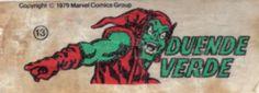 Duende Verde - Essa é uma coleção de 36 figurinhas dos Super-Heróis da Marvel, do chiclete Ping-Pong, lançadas em 1979, as quais colecionei todas e colei na cômoda do quarto, como todo mundo fez.