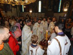 Свечано прослављен празник великог Божјег угодника и Чудотворца Светог Нектарија Егинског у храму Светог Саве на Врачару.
