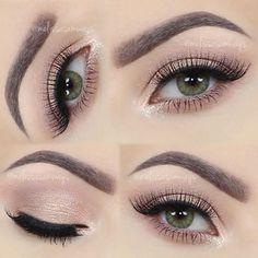 As vezes, menos é mais!! :-) ♡ Maquiagem Glam para o Dia – Suave e linda! ♡