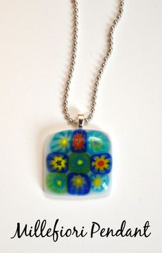 Millefiori Fused Glass Pendant...make it in your microwave!!