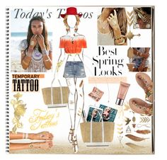 """""""Today's tatoosp"""" by sedf2 ❤ liked on Polyvore featuring beauty, Urban Decay, Flash Tattoos, Vanessa Bruno, Laidback London, Sans Souci, Frame Denim, H&M, Royce Leather and temporarytattoo"""