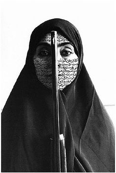 From the Women of Allah Series by Shirin Neshat (Iranian, b.1957). Wow.