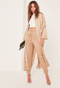 $47 Blush Satin Layered Light Duster Coat | Fall and Winter ...