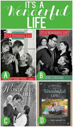 It's a Wonderful Life Family Christmas Card Idea