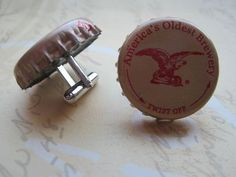 Grooms Men - DIY bottle cap cufflinks