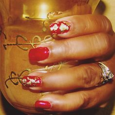Red and Gold #Nails