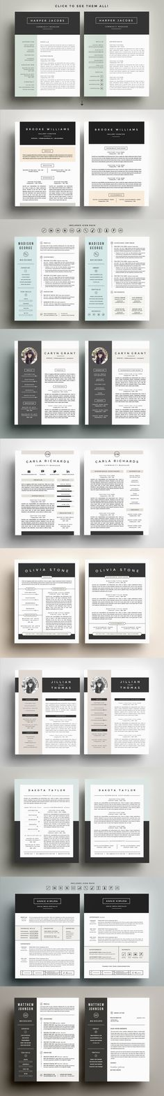 Go Big or Go Home! The Resume Bundle by Refinery Resume Co. on Creative Market