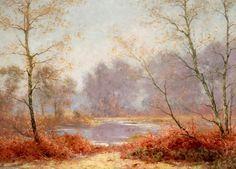 Paysage d automne de Albert Gabriel Rigolot (1862-1932, France)