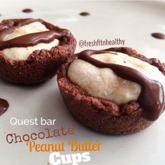 Ripped Recipes - Quest Chocolate Peanut Butter Yogurt Cups - A delicious Quest Bar recipe!