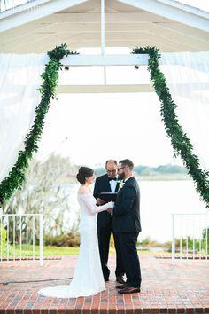 Natural wedding arch! Love this greenery arch! ELEGANT GREENERY-FILLED WEDDING AT A FLORIDA ESTATE www.elegantwedding.ca