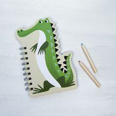Crocodile Notebook   dotcomgiftshop