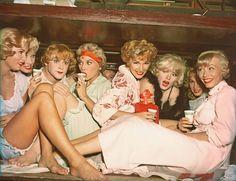 1958: Jack Lemmon and Marilyn Monroefilminga scene for Some Like It Hot.