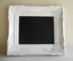 vintage look chalkboard, frame thrift store, spray paint Vintage Chalkboard, Magnetic Chalkboard, Framed Chalkboard, Chalkboard Wedding, Wedding Photo Props, Photo Booth Props, Wedding Signs, Wedding Menu, Wedding Ideas