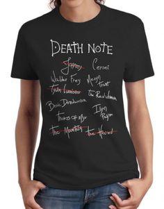 7ee46e31f5 Death Note da Arya Stark – Game of Thrones (Fem.