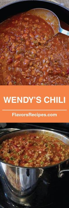 Wendy's Chili #Recipes #chili #cooking