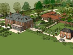 Designs | Projects | Richard Miers - Garden Design Designs To Draw, Design Projects, Garden Design, Mansions, Country, House Styles, Drawings, Home Decor, Decoration Home